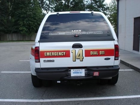 EVR011 - Custom Emergency Vehicle Reflective Striping & Chevron for Government