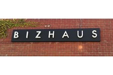 Bizhaus Halo Channel Letters on Raceway backing in Los Angeles