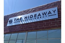 The Hideaway los angeles brushed aluminum installation half inch medex acrylic 3 dimensional lettering.jpg